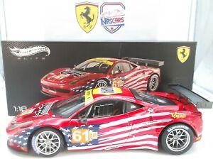1:18 Hot Wheels Elite Ferrari 458 Italia GT2 Le Mans 2012 #61 AF Corse no Kyosho