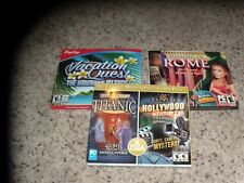 Lot of 3 PC Games: Missing in Rome, Vacation Quest The Hawaiian Islands + 1
