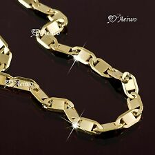 18K YELLOW GOLD GF CURB CHAIN NECKLACE 60.5CM LONG