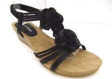 Elastic Ankle Strap Solid Sandals & Flip Flops for Women