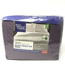 """BH/&G 300-THREAD COUNT WRINKLE-FREE FULL SHEET SET~PERIWINKLE SOLID~NEW~16/"""" DEEP"""