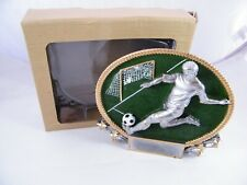 New Marco 3D Large Oval Soccer Plaque, Trophy Part Number 3D418