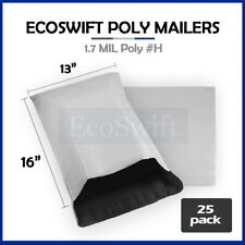 25 13x15 White Poly Mailers Shipping Envelopes Self Sealing Bags 17 Mil 13 X 15