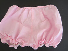 vintage hi waist large girls pink cotton bloomers no tag see inside for sizing