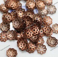 500pcs Silver/Gold/Black/Bronze Metal Flower Bead Caps 6mm Jewelry Findings