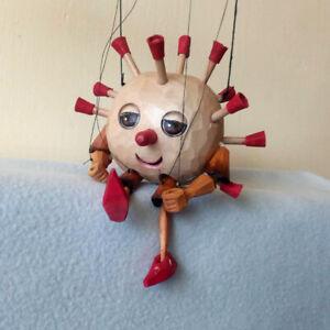 Mr. Virus PUPPET / MARIONETTE - 7,9 in. - unique handmade