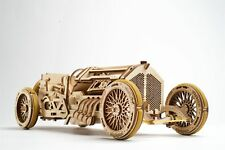 UGears Plywood Grand Prix Car Collectible Mechanical Model