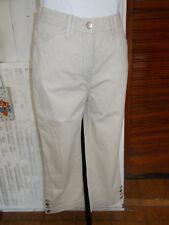 Pantalon court pantacourt coton beige stretch PIONIER HELENA 38/40 18PQ5