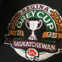 Vintage CFL Saskatchewan Roughriders Grey Cup 1995 Shirt Black