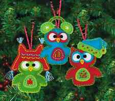 Whimsical Natale Ornamenti GUFO-FELTRO APPLIQUE KIT