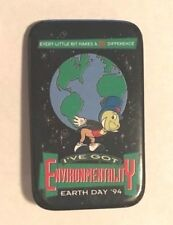 Disney ~ Button ~ Jiminy Cricket ~ Earth Day 1994 ~ I'Ve Got Environmentality