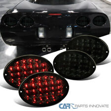 For 97-04 Chevy Corvette Smoke Full LED Tail Lights Rear Brake Lamps Signal 4PC