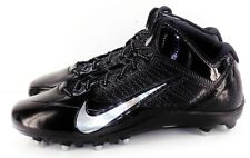 NIKE Alpha Pro Fly Wire Men's Mid 3/4 TD Football Cleats Black Size 15 NEW
