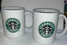 Starbucks ~ 2 Vintage Coffee Mugs ~ 10 oz (C)