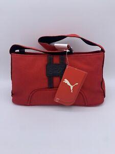 Puma Ferrari Red Canvas Small Handbag NWT