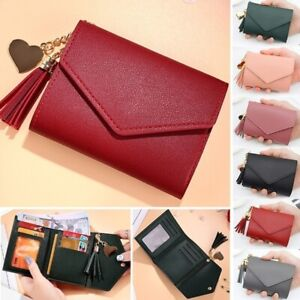 Women Casual Small Clutch Leather Mini Wallet Photo Credit ID Card Holder Purse