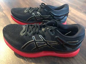 New Asics Womens Metaride Running Athletic Shoes Size 8 Black Red