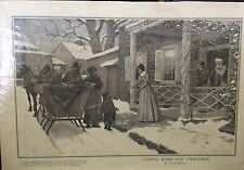 """""""Coming Home For Christmas"""" Illustration by A.B. Frost-The Journal 1900 11""""x16"""""""