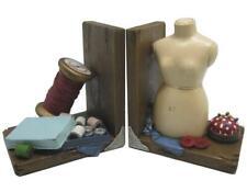 Tailor's Tailor Seamstress Bookends Shelf Rack Bookshelf Tidy Pair, 2 Pcs, New