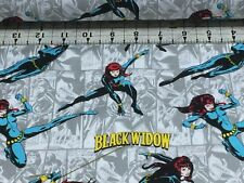 MARVEL THE  BLACK WIDOW PREMIUM COTTON   QUILTING  FABRIC   ONE YARD 11.99