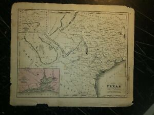 1860 Map of Texas..from Mcnally's System of Geography. 12x10 .Original
