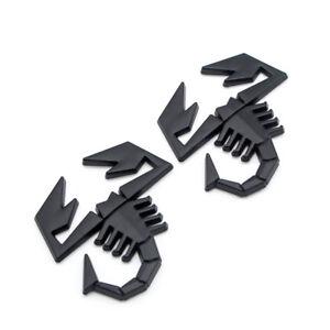 2x Matte Black Scorpion King Rear Tailgate Trunk Emblem Metal Side Fender Badge