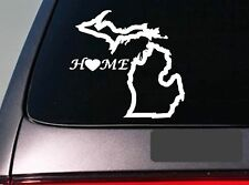 """Michigan home 6"""" sticker *E679* state outline home map decal vinyl"""