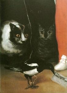 Francisco de Goya - Cats and Magpie Vintage Fine Art Print