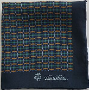 New BROOKS BROTHERS LINKS & DUCKS 100% Silk Pocket Square Pochette Handkerchief