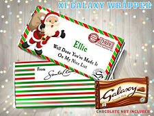 PERSONALISED CHRISTMAS EVE BOX CHOCOLATE BAR WRAPPER NICE LIST STOCKING FILLER