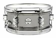 """Pacific by DW 6"""" x 12"""" Black Nickel Over Steel Snare"""