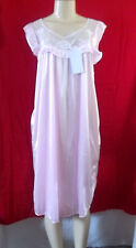 LIGHT PINK SLEEVELESS SHORT NIGHTGOWN CHEMISE SLEEPWEAR POLYESTER XL P