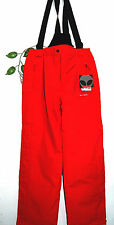 Biting Red Men Insulated Padded Overalls Suspenders Skiing Pants Sz Us 36 Eu 54