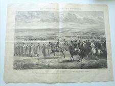 1885 El Rey pasa revista á tres cuerpos de ejercito del norte en Plana de Olite