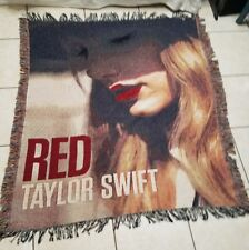 "Taylor Swift Red Concert Tour Album Cover Throw Blanket 50"" X 60"" Woven Tapestry"