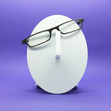 Circle in Circle Dot Graphic Black Silver Frame Reading Glasses Lens Power +2.00