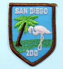 Vintage San Diego Zoo Patch California Wild Animal Park Flamingo Lion Brothers