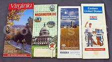 Mixed Lot of Vintage Maps: Virginia, Washington Dc, Central States, Eastern Us