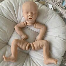 "18"" Reborn Baby Doll Kits Soft Vinyl Head +3/4 Limbs Full Leg Lifelike DIY Parts"