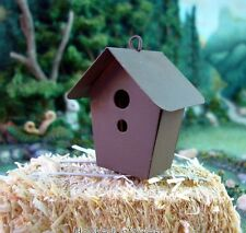 Rustic Metal Birdhouse  Dollhouse Miniature Faerie  Gnome  Hobbit Garden 6612-03