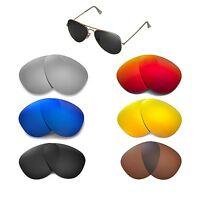 Walleva Replacemen​t Lenses for Ray-Ban Aviator RB3025 58mm - Multi Options