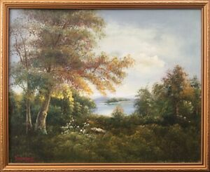 20th Century English School Oil on Canvas Landscape Painting. Signed & Framed.