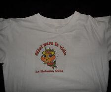 Vintage ORIGINAL RARE 1970s MIEL PARA LA VIDA LA HABANA HAVANA CUBA T SHIRT L