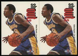 Investor Lot Of (2) 1998 Skybox Shouts Kobe Bryant Lakers HOF