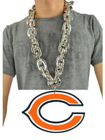 New NFL Chicago Bears SILVER Fan Chain Necklace Foam Magnet - 2 in 1