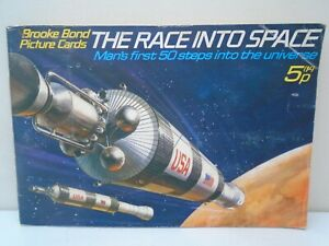 'The Race Into Space' Brooke Bond Tea Card Album (Complete, Acceptable )