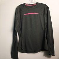Reebok Crossfit Long Sleeve Shirt Charcoal Gray Women's Size Medium