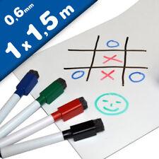 Magnetfolie / Whiteboardfolie magnetisch weiß beschreibbar 0,6mm x 1m x 1,5m