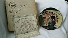 """Knowles Collectors Plate Norman Rockwell series """"A Balcony Seat"""" 1991"""