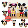 Mickey Minnie Mouse Theme Birthday Party 18``Foil Air or Helium Foil Balloon UK